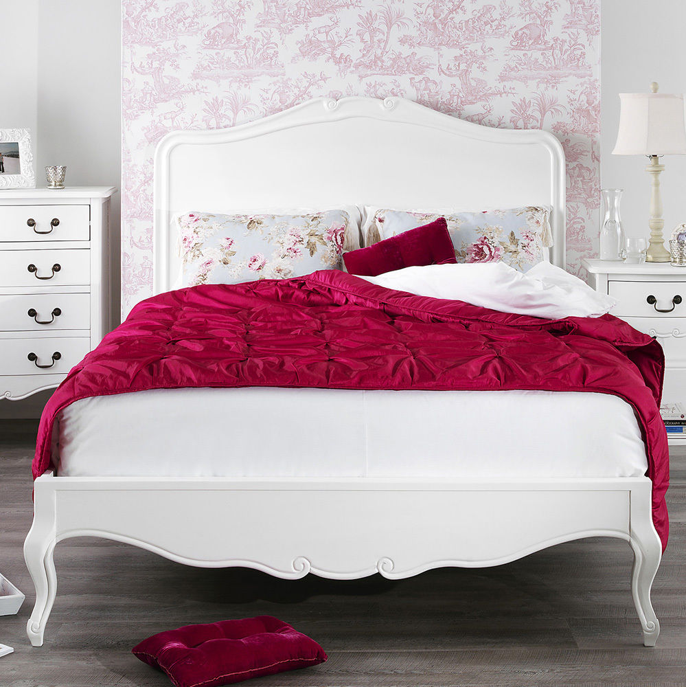 ROCHELLE FRENCH SHABBY CHIC WHITE PAINTED BEDROOM FURNITURE