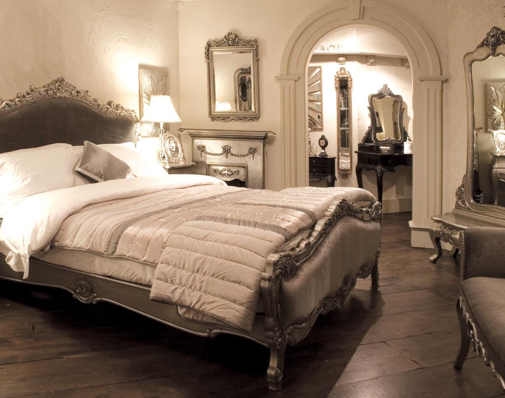 lucie french silver bedroom furniture